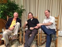 Tony, Steve Sanchez, Rick Darke at Speaking of Gardening Symposium (Clara Curtis)