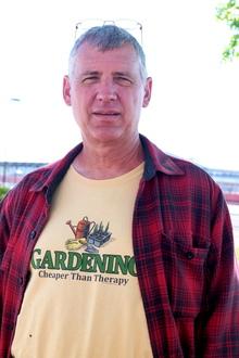 Tony w Garden therapy shirt
